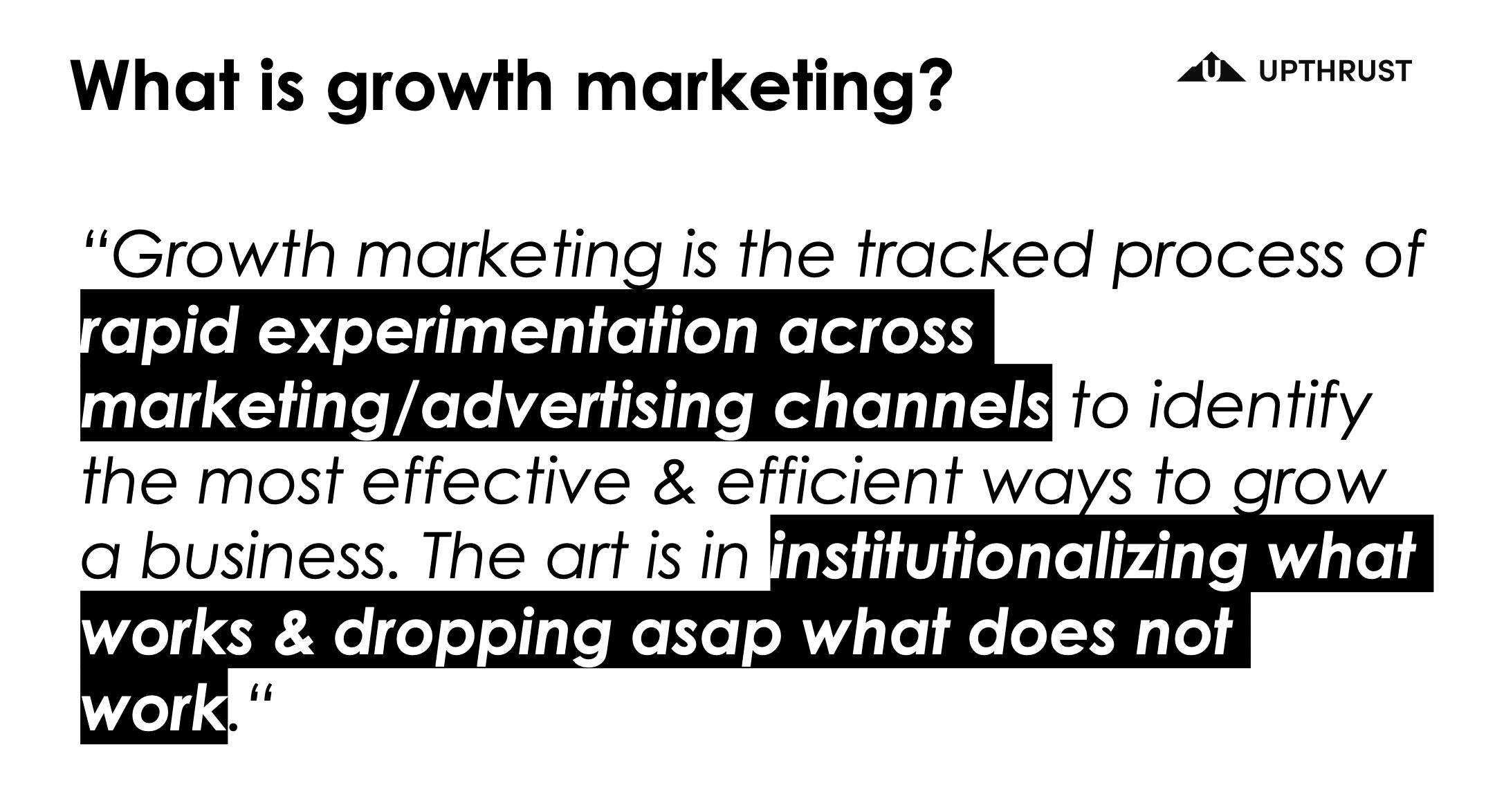 Growth Marketing Defination