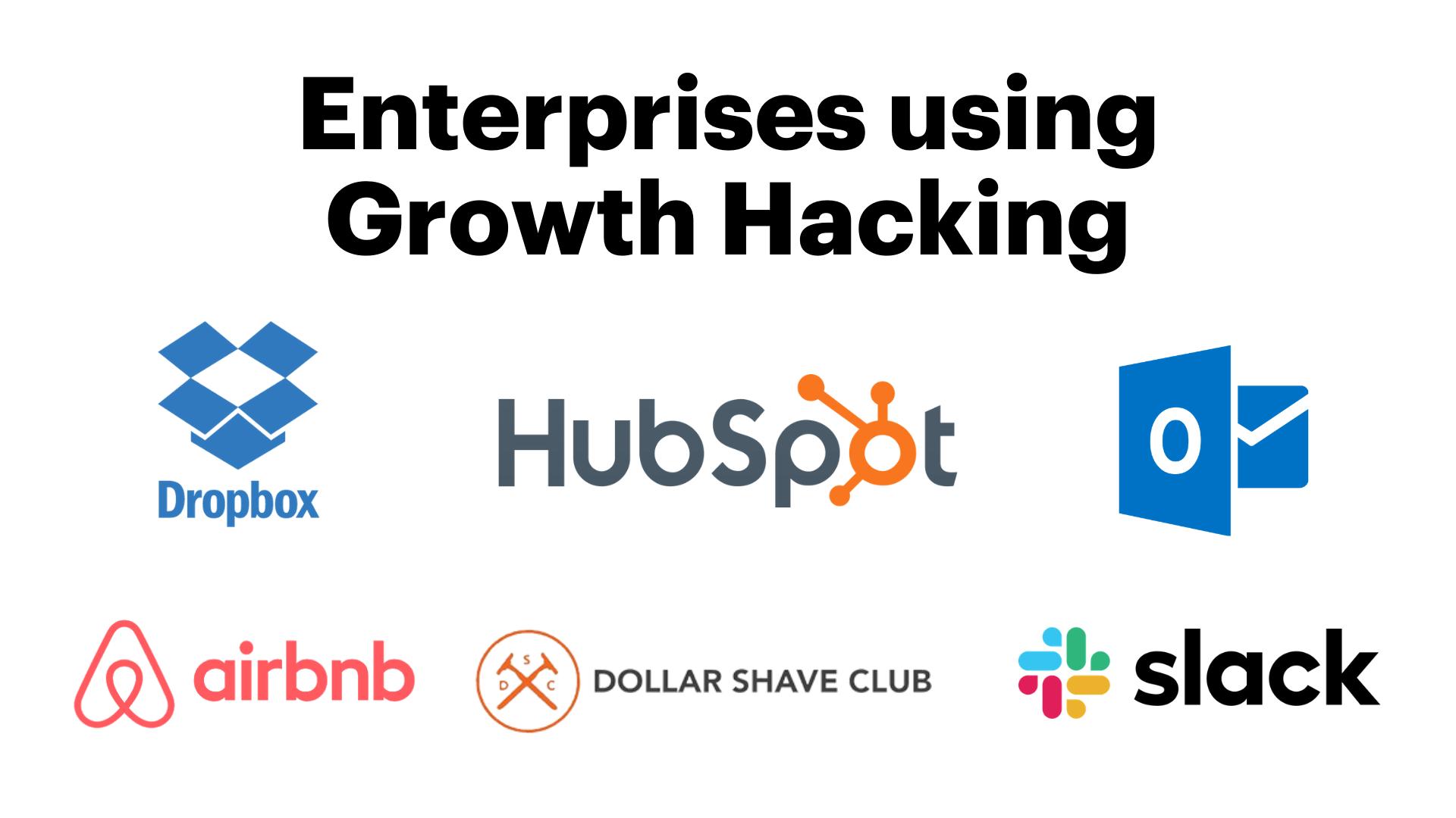 enterprises using growth hacking